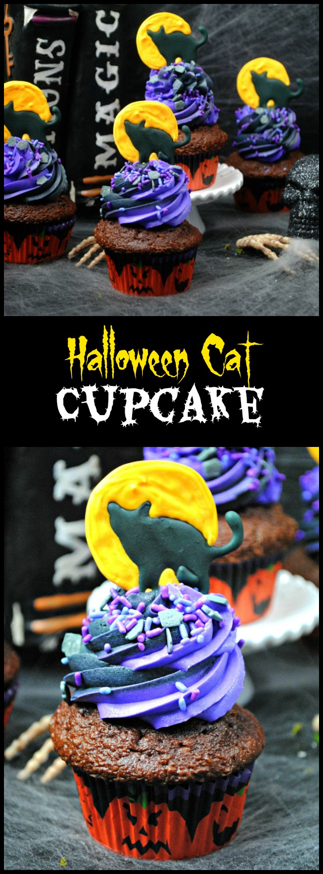 Cupcakes made from scratch taste so much better than a box. The Halloween Cat Cupcake recipe really isn't that complicated.