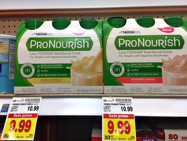 ProNourish ™ is a nutritional drink that fits right in with a low FODMAP diet. The ingredients are carefully selected just for you.