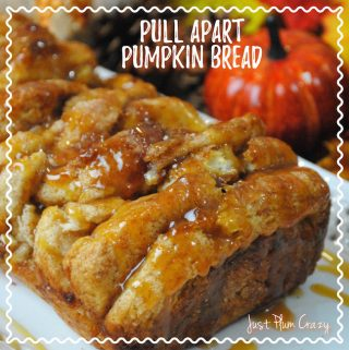 Today we are sharing a Pull Apart Pumpkin Bread Recipe. You can make this for Halloween or Thanksgiving. It's easy and everybody loves it!