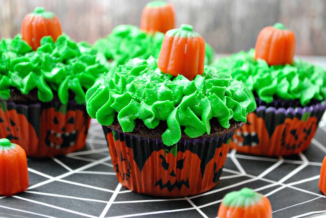 Pumpkin Patch style cupcakes