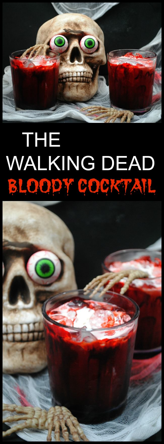 The Walking Dead Season 7 is upon us and why not get ready for it with an adult alcoholic beverage like The Walking Dead Bloody Cocktail recipe!