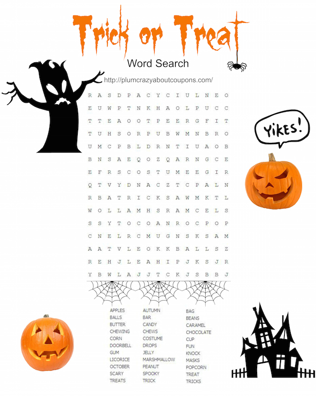 photograph regarding Printable Holloween Games named Absolutely free Printable Halloween Video games Simply Plum Nuts