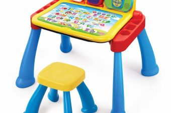 The VTech: Touch & Learn Activity Desk is a three-in-one desk with interactive activity cards for more fun and discovery.