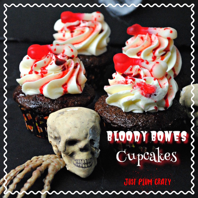 Since this coming Sunday starts the 7th season of The Walking Dead, I figured now would be the time to share the Bloody Bones Cupcakes recipe.