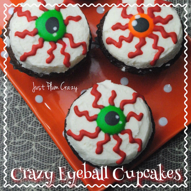 Today we have a made from scratch Crazy Eyeball Cupcakes Recipe that is perfect for a scary kid's Halloween party or even office party.