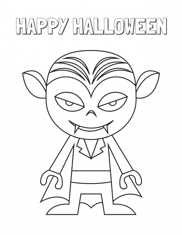 Halloween Coloring Pages - Easy Peasy and Fun | 800x618