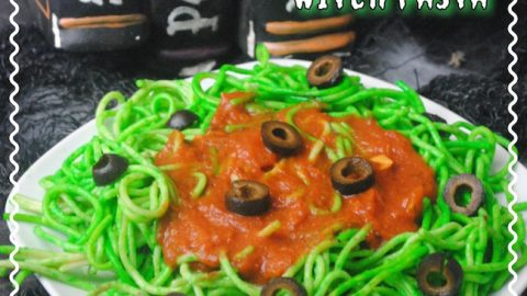 Sometimes getting kids to eat can be like pulling teeth. So why not make some food for them like the Spooky Witch Pasta recipe.