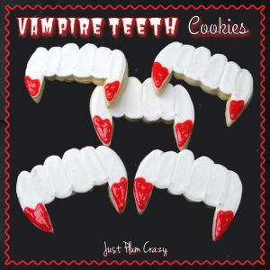 Halloween is closing in and will be here in a couple weeks. Here is a Vampire Teeth Cookie recipe that is great for parties or Trunk or Treats!