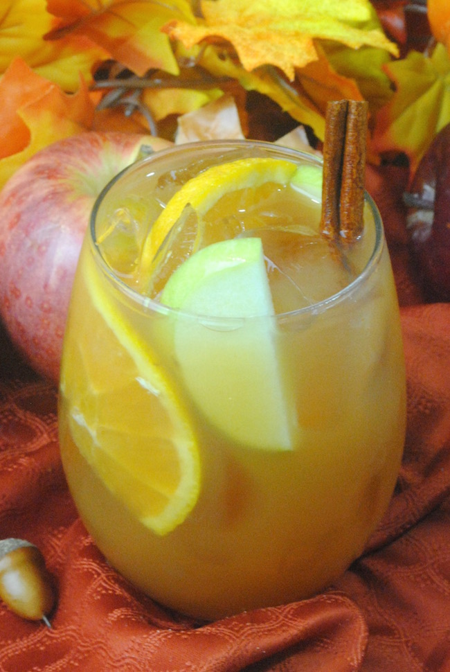Now that we made the Mini Apple Pies recipe, you're going to need something to wash it down with. How about an Apple Cider Sangria recipe?