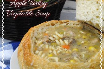 Bread bowl Turkey Vegetable soup