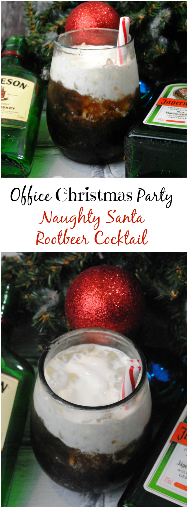 We are getting prepared for the Office Christmas Party movie with a special Office Christmas Party Naughty Santa Rootbeer Cocktail Recipe.