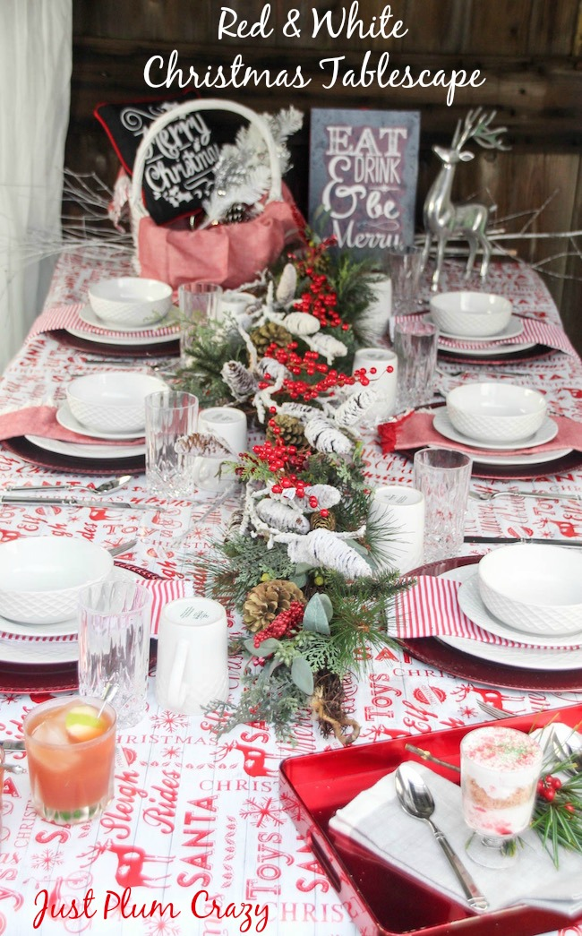 Christmas is pretty easy and I probably have way too much stuff, but it comes in handy especially when I'm doing a Red & White Christmas Tablescape.