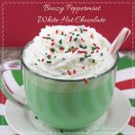 Boozy Peppermint White Hot Chocolate Recipe
