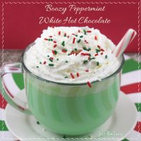 Alcoholic Hot Chocolate: Peppermint