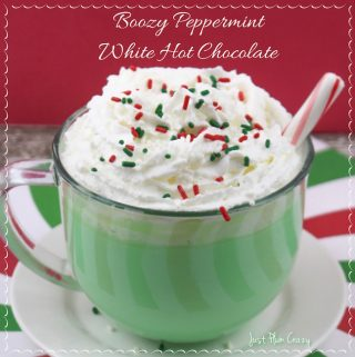 If you're going to have hot chocolate, why not make a Boozy Peppermint White Hot Chocolate! Who doesn't love peppermint and chocolate?