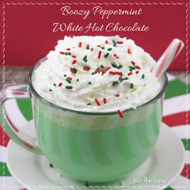 Alcoholic Hot Chocolate with Peppermint & White Chocolate