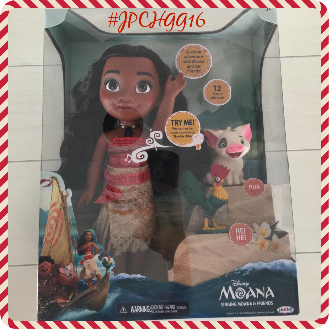 """Disney Moana is a stunning replica of her movie character, right down to the last detail. She measures 14"""" and sings her signature song """"How Far I'll Go""""."""