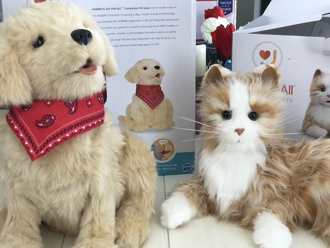 Hasbro's Joy For All Companion Pets unique two-way interaction can help bring fun, joy, and companionship to you and your aging loved ones ages 5 to 105!