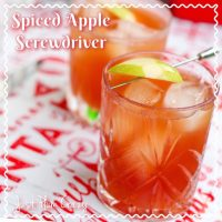 Spiced Apple Screwdriver Cocktail