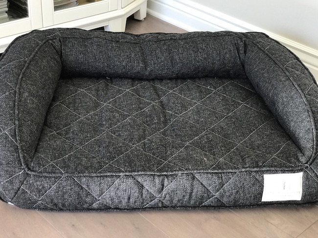 The Brentwood Home Deluxe Pet Bed is an orthopedic cushion that protects their joints with side and back supports & makes her feel cradled & comfortable.
