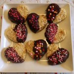 Chocolate Dipped Rice Krispies Treat Hearts Recipe Day 11 #12DaysOf
