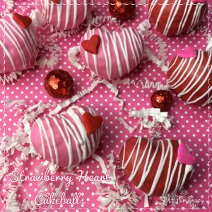 Hearts, chocolate, cake...it's all a sign that Valentine's Day is near. This Strawberry Heart Cakeballs recipe are so simple and everyone will love them.