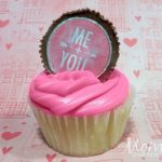 Valentine's Day Cupcakes with Sweetheart PB Cupcake Toppers Day 8 #12DaysOf