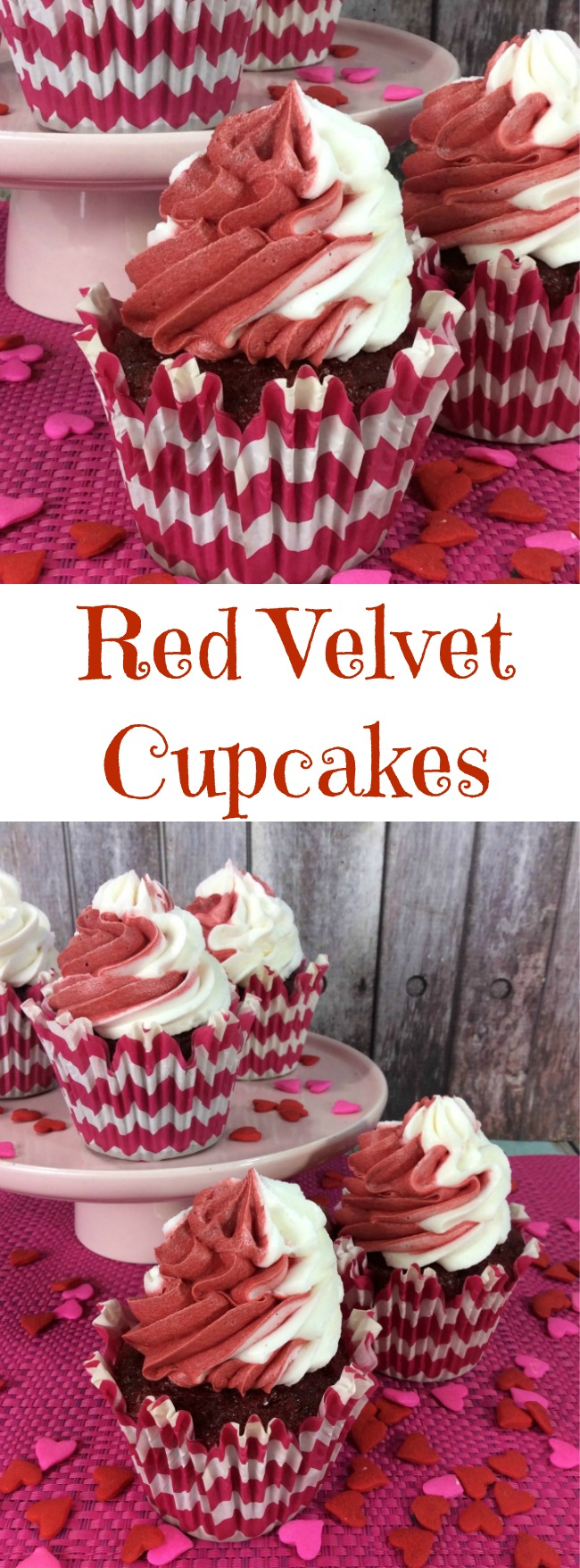 Here we have one of my favorite Valentine's Day recipes, Red Velvet Cupcakes recipe. Of course you can make this anytime of the year.