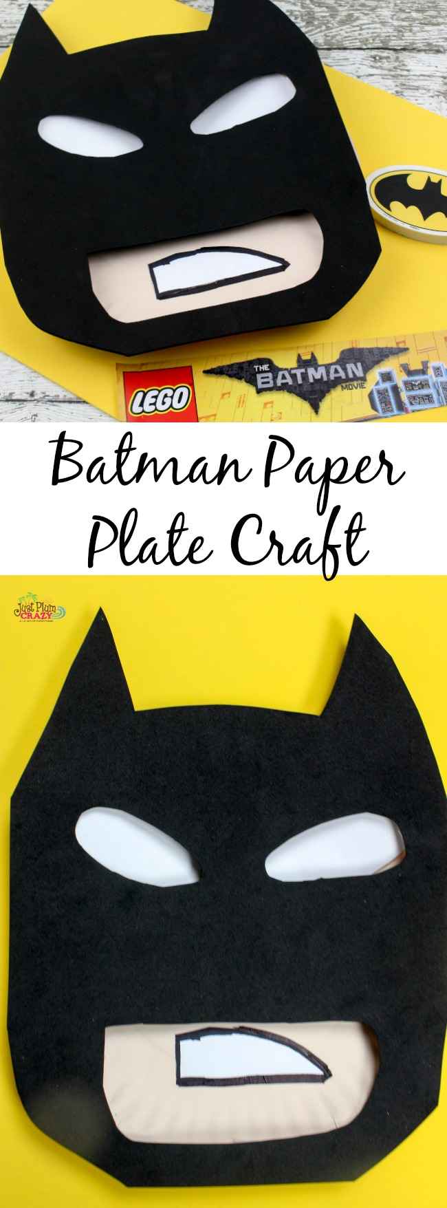 Uncategorized Batman Crafts batman paper plate craft tutorial just plum crazy with the new movie premiering this weekend i saw it fitting that we share