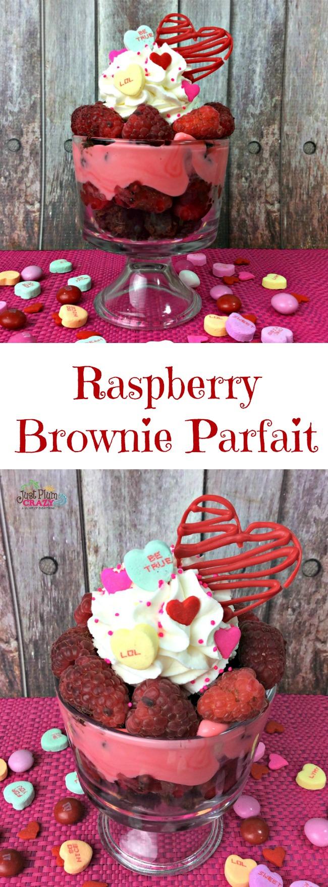 Raspberry Brownie Parfait Recipe | Just Plum Crazy