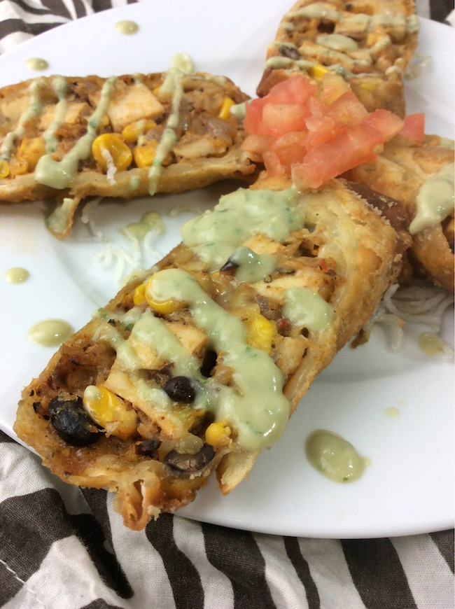 The Tex Mex Egg Rolls recipe is perfect for game day. You can buy the small taco shells and make a dozen that are the perfect finger food.