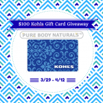 $100 Kohl's Gift Card Giveaway – Pure Body Naturals (ends 4/12) #giveaway #beauty #beautyful #beautytips