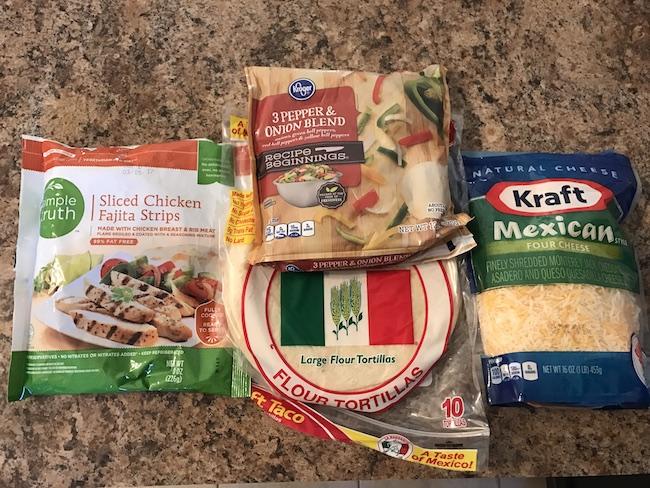 Air Fryer Crispy Chicken Quesadillas Recipe Ingredients