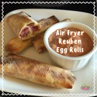 Air Fryer Reuben Egg Rolls