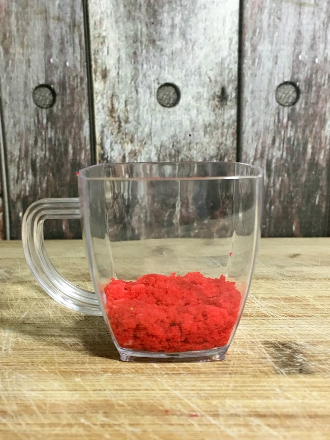 Red cupcake mix for belle cupcake dessert