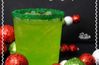 We just got done sharing the kids Grinch Ice Cream Float recipe so how about a nice adult beverage Grinch Cocktail recipe.