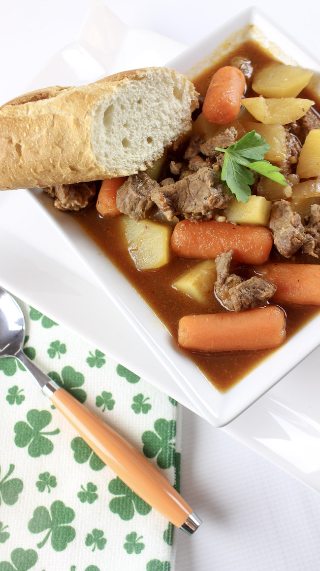 We love Beef Stew in our house but sometimes you want to switch it up and this Irish Beef Stew recipe is perfect for any day.