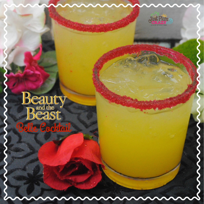 As you know, Beauty and The Beast will be in theaters March, 17th. So let's celebrate with a Beauty and The Beast Belle Margarita recipe.