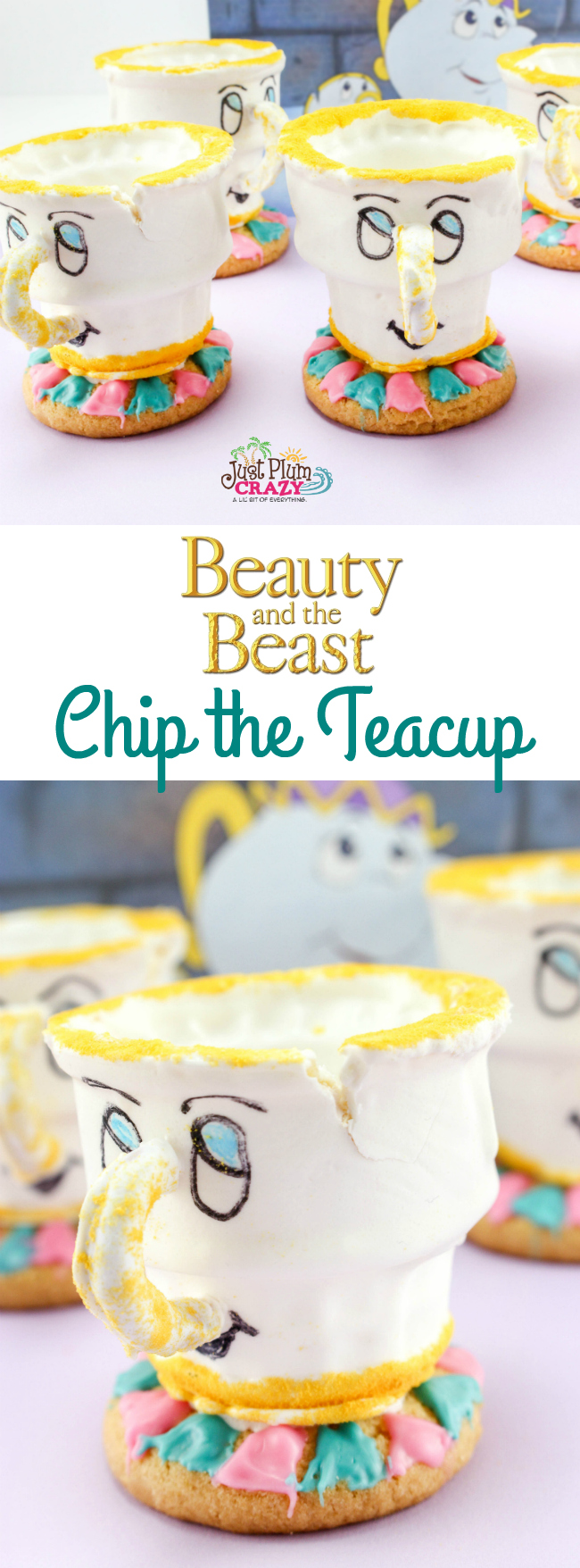 Beauty and the Beast teacup cupcake