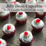 Jelly Bean Cupcakes Recipe With Vanilla Buttercream Icing Day 5 #12DaysOf
