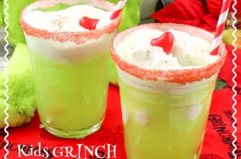 How The Grinch Stole Christmas is my all time favorite Christmas cartoon. So it's only fitting that we share a Kids Grinch ice Cream Float recipe.