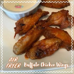The Air Fried Buffalo style skinny chicken wings recipe is only 6 smart points per 4 oz serving, which is about 5 chicken wings when done in the air fryer.