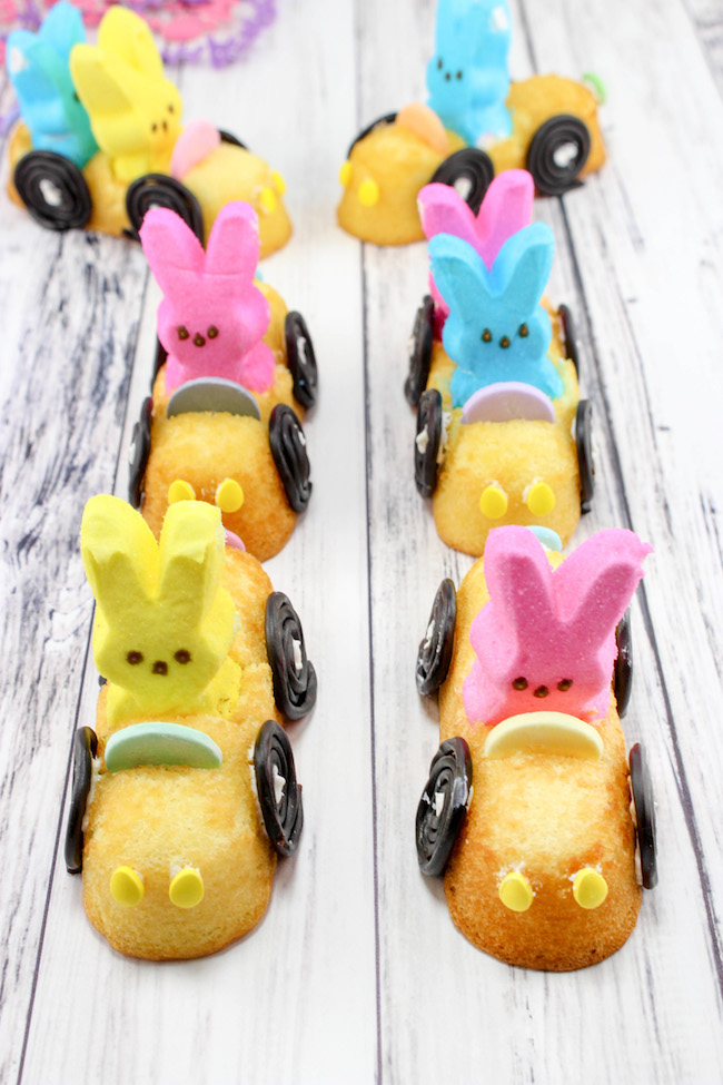Easter Peep Mobiles with Twinkie Cars