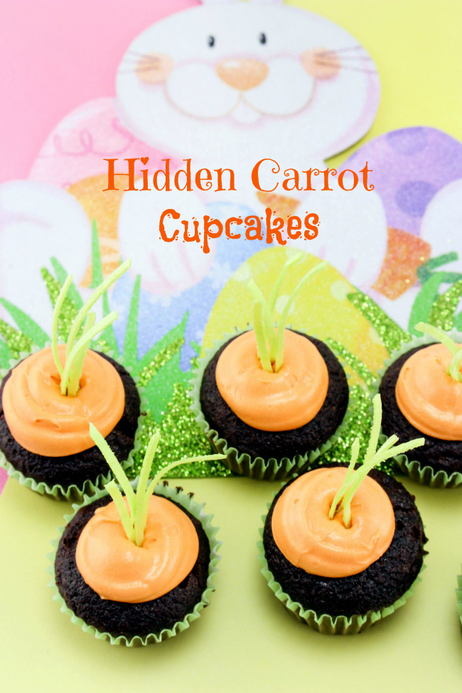 Hidden carrot patch Easter cupcake recipe