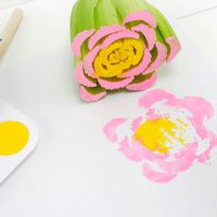 Celery Stamping Flower Craft