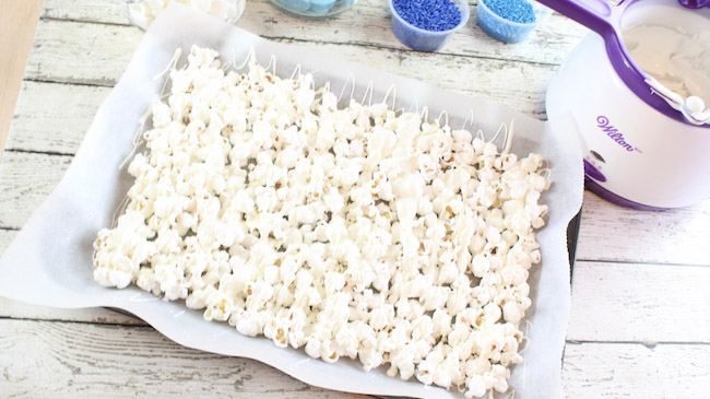 "We came up with a Smurf Popcorn recipe to snack on while we wait for the new movie ""Smurfs: The Lost Village"" on Friday, April 7th!"