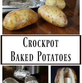 Spring is here & that means it's time to be out enjoying family and friends! Head over and check out this EASY recipe for Crockpot Baked Potatoes recipe!