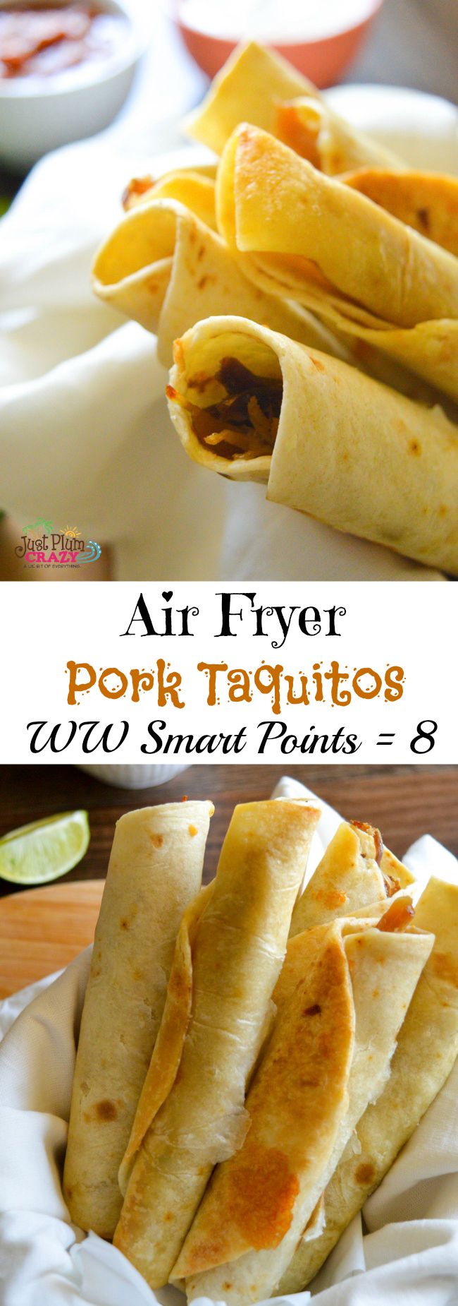 Pork Taquitos in air fryer for weight watchers