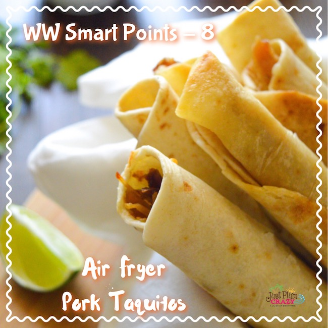 Air Fryer Taquito With Pork
