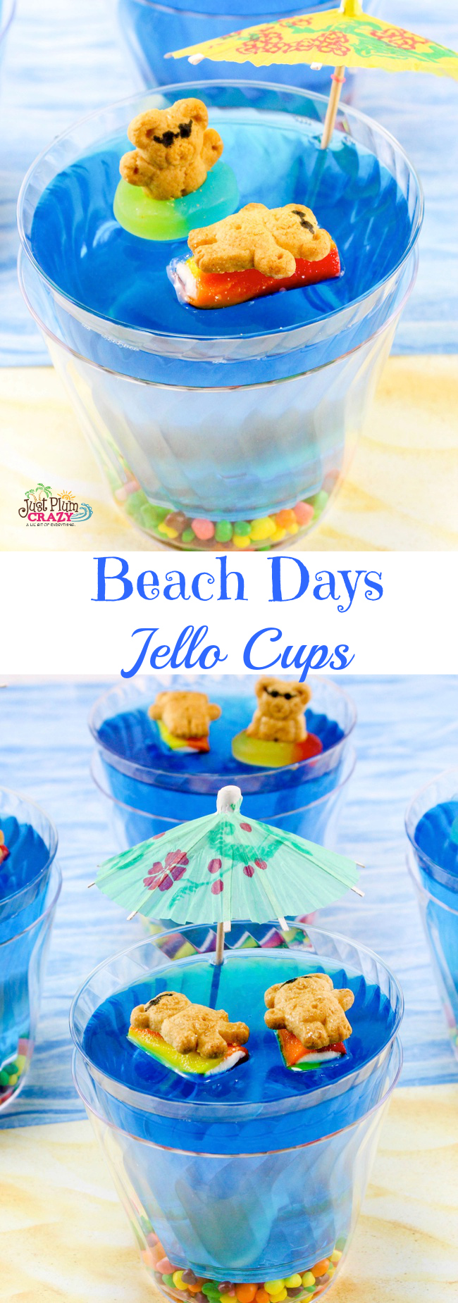 Beach Themed Jello Cup Recipe
